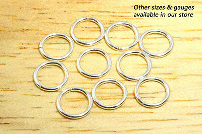 6.6mm 20g - 10pcs  935 Argentium Sterling Silver Open Jump Rings