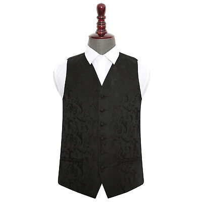 New Dqt Passion Mens Wedding Waistcoat - Black