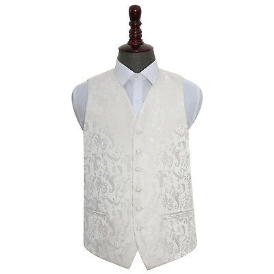 New Dqt Passion Mens Wedding Waistcoat - Ivory
