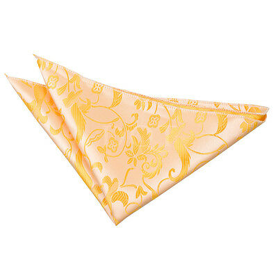 New Dqt Passion Mens Handkerchief / Hanky - Gold