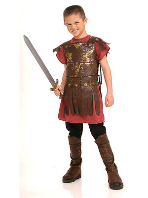 Child Gladiator Party Outfit New Fancy Dress Costume Roman Warrior Kids Boys BN