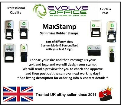 MaxStamp Maxum Self Inking Custom Rubber Stamps - Personalised & Bespoke