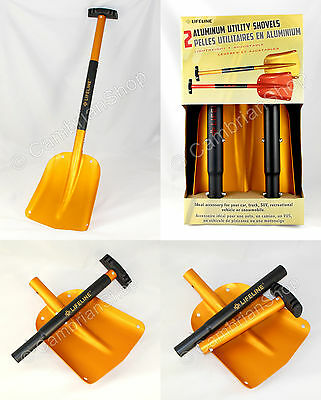 Lifeline Portable Aluminium Winter Snow Mud Shovel Car Collapsible Utility