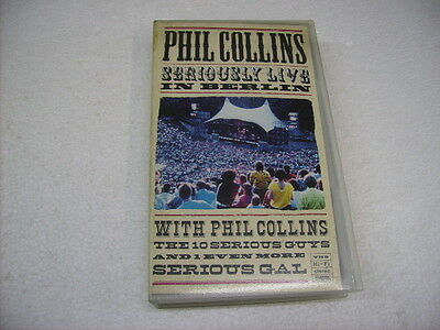 Phil Collins - Seriously Live In Berlin - Vhs Pal
