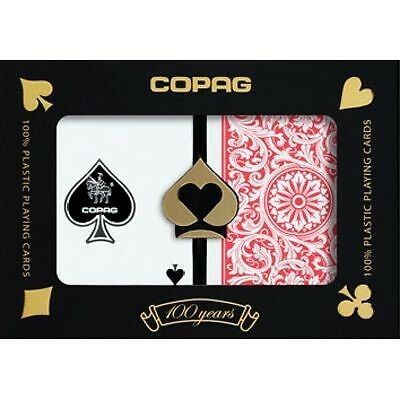 Copag 1546 Poker Size Regular Index Plastic Playing Cards (Blue Red)