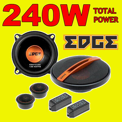 EDGE 420W TOTAL 2WAY 5.25 INCH 13cm CAR DOOR 2WAY COMPONENT SPEAKERS + TWEETERS