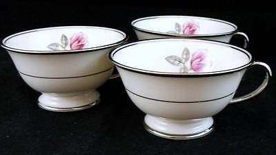 Franciscan HUNTINGTON ROSE 3 Cups (no saucers) GREAT CONDITION