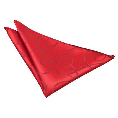 New Dqt Scroll Mens Handkerchief / Hanky - Burgundy