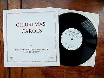 "10"" 33 PRIVATE PRESS DEROY 712 ""Christmas Carols"" St. John Baptist Ch, Broughton"