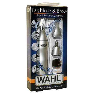 NEW!! Wahl Ear, Nose & Eyebrow Trimmer 3 in 1 Groomer Wet/Dry 5545-2408
