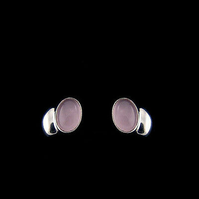 Georg Jensen Earrings # 263 - CARNIVAL  w. Rose Quartz