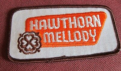 "Vintage Hawthorn Mellody Orange Patch Embroidered 2x4"" Dairy Advertising Sew-on"