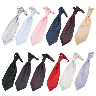 DQT Woven Swirl Classic Wedding Mens / Boys Pre-Tied Cravat