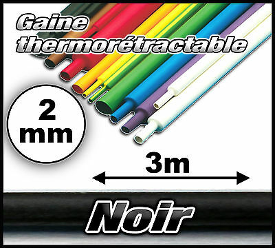 906# Gaine thermo rétractable 2 mm 3m  ratio 2/1 gaine thermorétractable