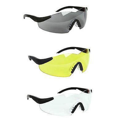Warrior Lightweight  Work Safety Specs Spectacles Glasses Clear Yellow Smoke