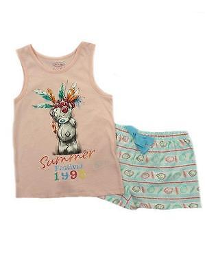 Girls Ex M&S Tatty Teddy Shorty Pyjamas Set  Age 6-7  7-8 9-10 11-12 13-14 15-16