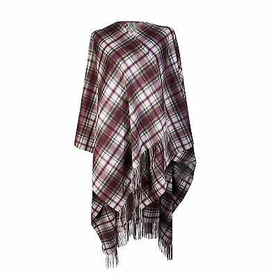 EDINBURGH CASHMERE 100% Luxury Cashmere Ladies Cape Tartan MacDuff Dress