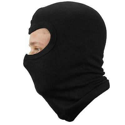OnTour Black 100% Cotton Balaclava Motorcycle Snood Slim Fit