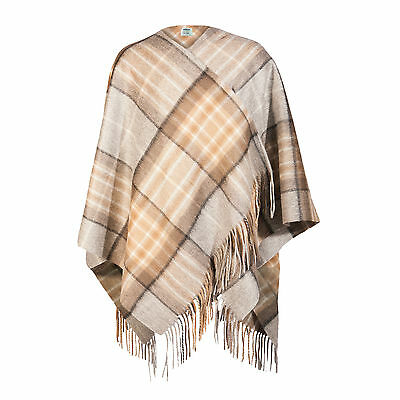 EDINBURGH CASHMERE 100% Cashmere Girls & Ladies Cape Tartan MacKellar