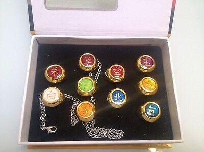 NARUTO ANIME COSPLAY Akatsuki Member Ring 10 Pcs Set With Box