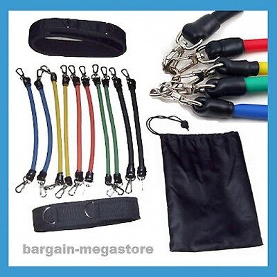 Leg Resistance Bands Kinetic 13 Piece Tubes Set Exercise Crossfit Plyometrics