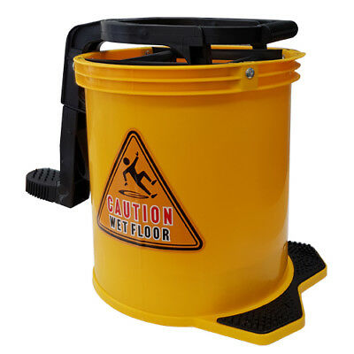 Commercial Heavy Duty Cleaning Wringer Mop Bucket 16L - Blue Red Yellow & Green