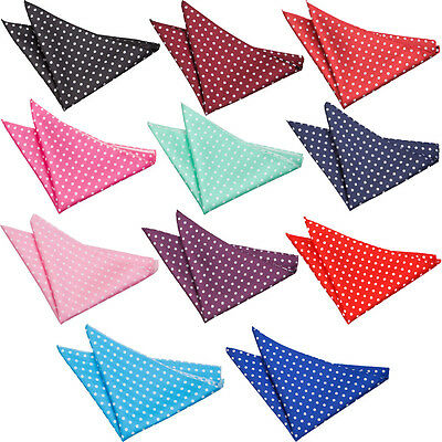 DQT Premium Polka Dot Handkerchief Pocket Square Hanky (Formal or Casual Wear)