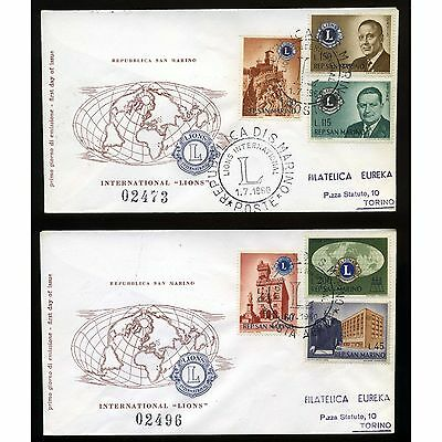 1960 San Marino - Fdc - Lions - Completa -- Gnt337