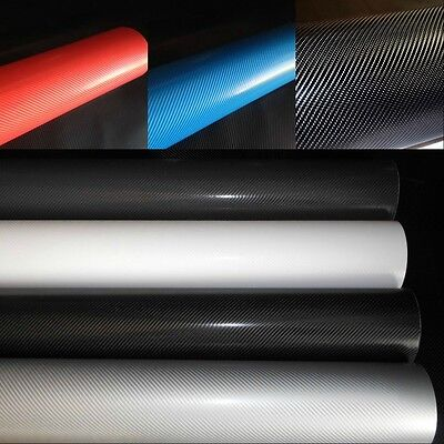 4D Carbon Fibre Vinyl Wrap (Air/Bubble Free) 4 Colours Multi sizes