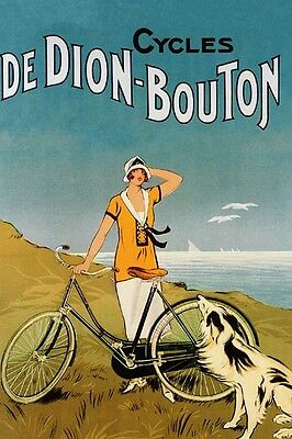 Olympic Bicycle Cycles Race Pouchois France French Vintage Poster Repro FREE S//H