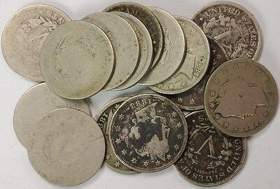 Lot Of 15 Liberty Nickels Nickel 5 Cent Coins US Mint