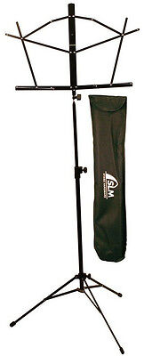 St Louis Deluxe Folding Music Stand with Carrying Bag in Black Accessory