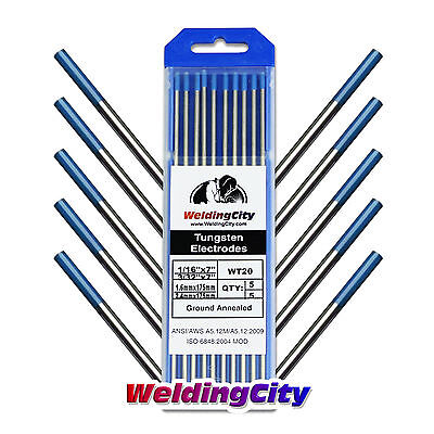 10-pk TIG Welding Tungsten 2% Lanthanated Blue Assorted 1/16-3/32 US Seller Fast