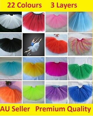 Adults Women Teen Girl 80s Tutu Ballet Skirt Tulle Costume Fairy Party Dancewear