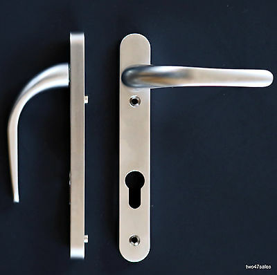 Easy Fit SATIN SILVER CHROME Quality Door Handle brushed Lever upvc Patio euro