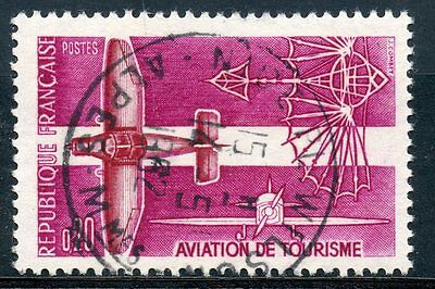 TIMBRE FRANCE OBLITERE N° 1341  AVIATION DE TOURISME Photo non contractuelle