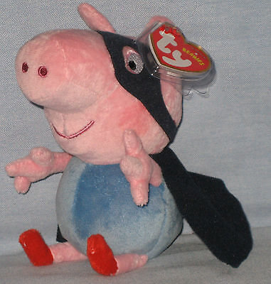 23e0515fd12 TY GEORGE SUPERHERO BEANIE BABY (UK EXCLUSIVE - PEPPA PIG) with NEAR ...