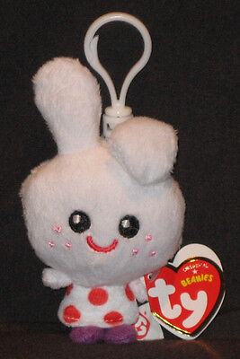 TY KEY CLIPS BEANIE BABY - HONEY the FUNNY BUNNY (MOSHI MONSTER) - MINT TAGS