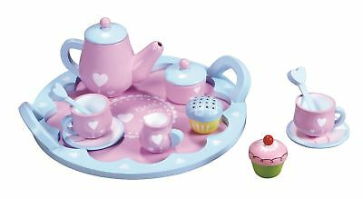Lelin Wooden Heart Teapot Set Childrens Pretend Role Play Toy