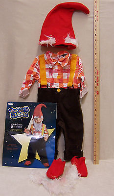 Child Garden Gnome Halloween Costume Size Infant 12 - 18 Months Hat & Beard