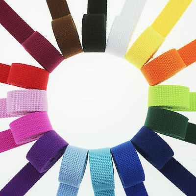 "10 Yards Cotton Webbing - 1 Inch (1"") Heavy Duty - Choose Your Color"
