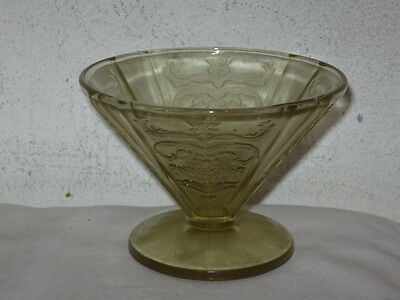 Antique Amber Depression Federal Glass Madrid Footed Sherbet Dish VFC