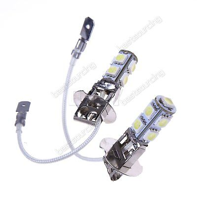 2x H3 9 SMD LED SUPER WHITE XENON Upgrade Headlight Fog Light Bulbs Lamps 12V UK