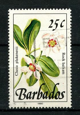 "Barbados 1989-1992 SG#925, 25c Wild Plants Definitive ""1990"" Used #A51322"