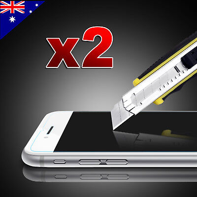 2x Scratch Resist Tempered Glass Screen Protector Guard for Apple iPhone 7