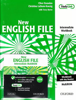 OXFORD NEW ENGLISH FILE Intermediate Workbook w Key &MultiROM @New 9780194518062