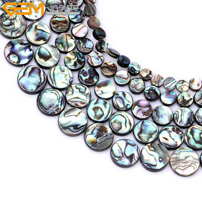 """Natural Genuine Abalone Shell Loose Beads 15"""" Wholesale Jewelry Making Beads"""