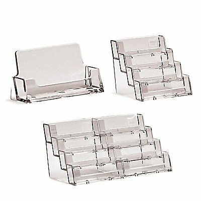 Business Card Holders Acrylic Display Stand Retail Counter & Wall Dispensers