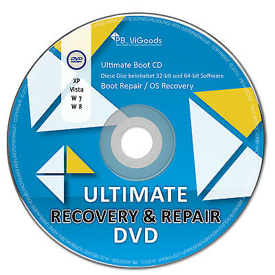 Ultimate Boot & Repair CD/DVD✔ Windows 10 / 8 / 7 / XP✔ Bootfähig✔ Notfall CD✔