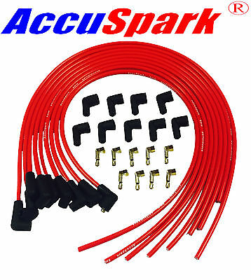 Triumph Stag V8 HT Leads AccuSpark RED 8mm Silicon Performance, set CTL1L